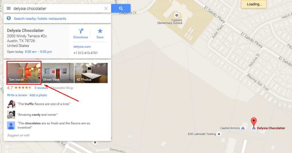 Google Virtual Tour Listing Location