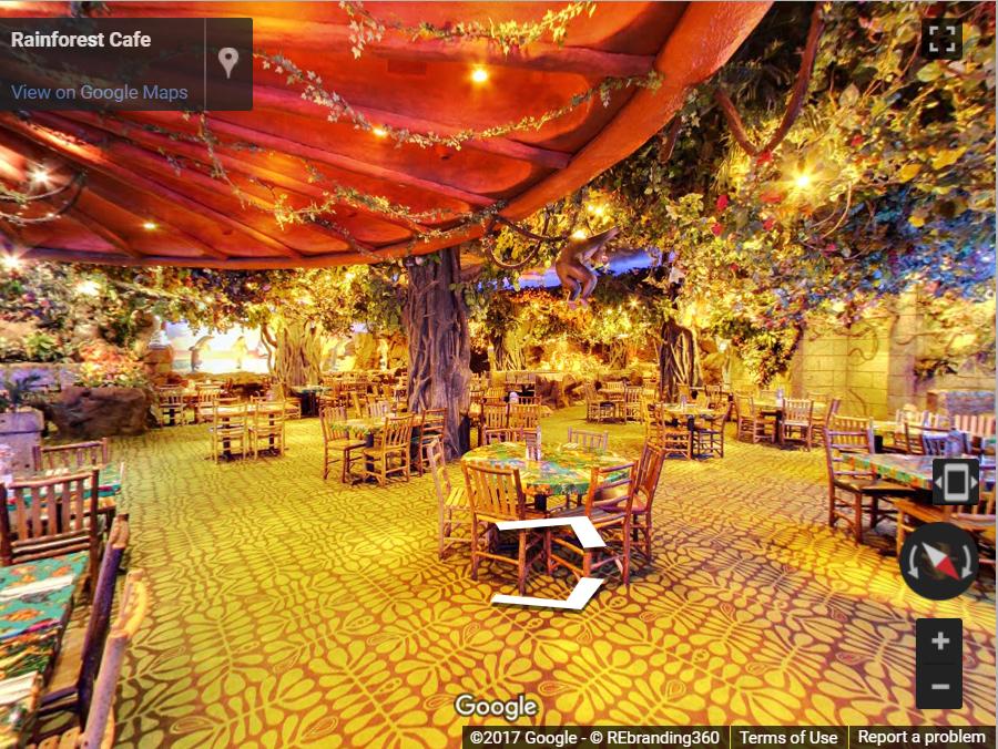 Virtual Tour Rainforest Cafe