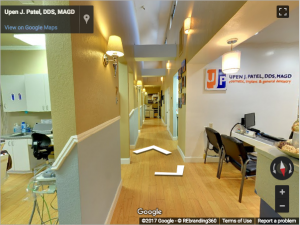 Upen J. Patel, DDS, MAGD Google Virtual Tour