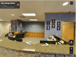 Blue Springs Optical Google Virtual Tour